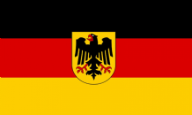 GERMANY (WITH EAGLE) - HAND WAVING FLAG (MEDIUM)